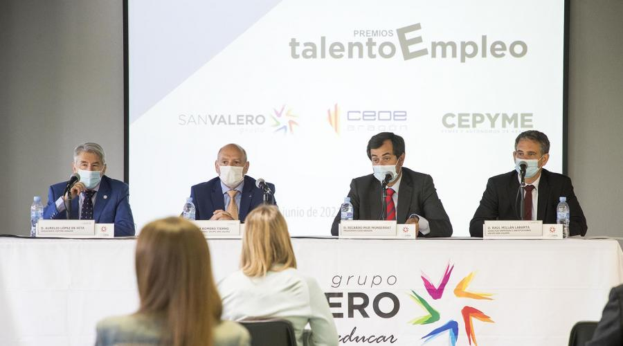 Sede Grupo San Valero presentación premios 'Talento Empleo'.
