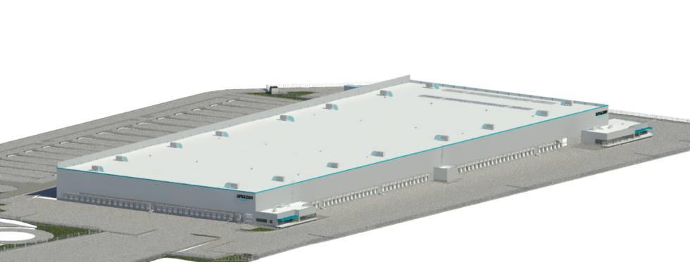 Amazon en Zaragoza - Maqueta del futuro centro logístico