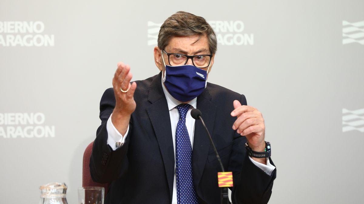 Arturo Aliaga,  vicepresidente del Gobierno de Aragón, en la conferencia sectorial de Transición Ecológica